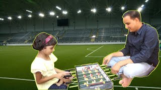 Table Football with Dad - Look Who Win this Game | Kids Indoor Game/ Family Indoor Game | Miss Anika