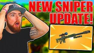 NEW HEAVY SNIPER RIFLE GAMEPLAY! Fortnite Battle Royale UPDATE!