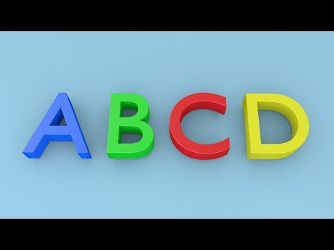 Abcd For Kids - 3d Animation [capital Letter Alphabets] video