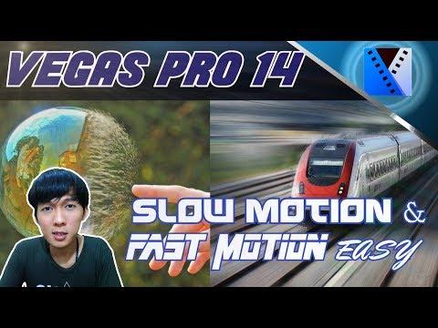 VEGAS PRO 14 - Cara Mempercepat dan Memperlambat Video (Slow Motion) Dengan Mudah