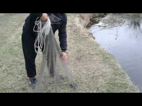 Как правильно забросить рыболовный парашют
