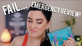 EMERGENCY REVIEW  TARTE HIGH TIDES & GOOD VIBES EYESHADOW PALETTE... FAIL!