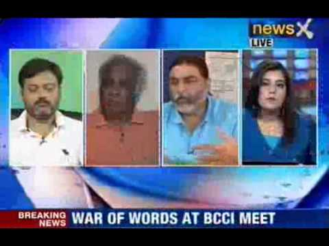 News X : Heated arguments at BCCI Meet