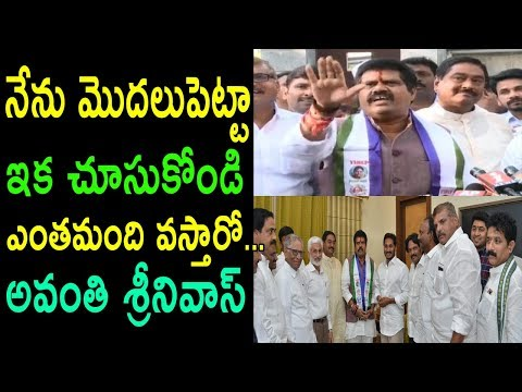 TDP MP Avanthi Srinivasa Rao Join's YSRCP Meets Jagan | Challenge To TDP AP CM | Cinema Politics