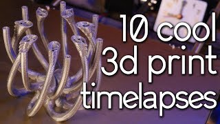 3D Printing Time Lapse Compilation 8 (Prusa Mk3)