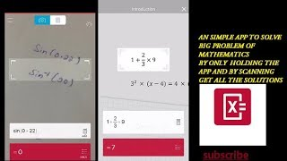 using the phone camera :solve the algebra geometry and all other mathematical problem