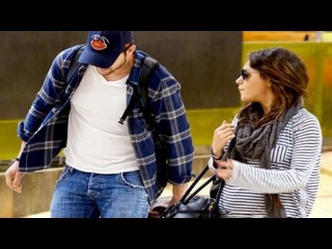 Pregnant Mila Kunis and Ashton Kutcher Asked About Their To Be Baby Daughter