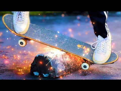A SKATEBOARD THAT SPARKS?!