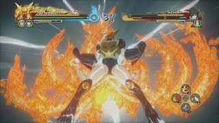 Naruto Shippuden Ultimate Ninja Storm Revolution - Mecha Naruto vs Sasuke Gameplay