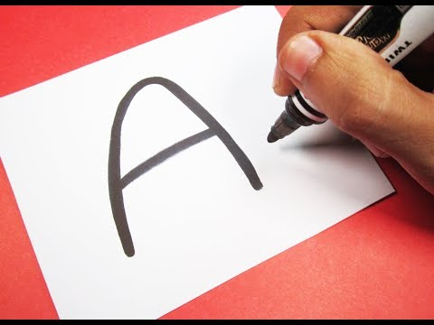 How to turn Letter A into a Cartoon WHITE ANGRY BIRD ! Fun with Alphabets Drawing for kids