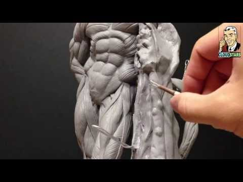 How to Sculpt Ecorche Hercules – Part 73 Building the flayed lion skin pedestal thingy