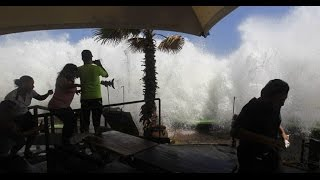 Tsunami alert Huge waves El Salvador May 2015 part 2