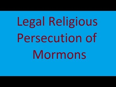 Legal Religious Persecution