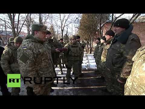 Ukraine: Poroshenko awards Debaltsevo commander 'Hero of Ukraine'