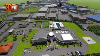 3D animation organized industrial zones