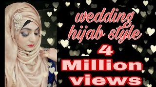 The most requested hijab style for wedding and parties. Ft.Ruhi hijabs