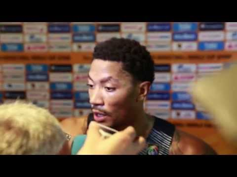 Derrick Rose Speaks After Team USA's Win