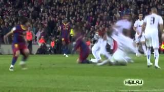 Messi and Ronaldinho Destroying Sergio Ramos
