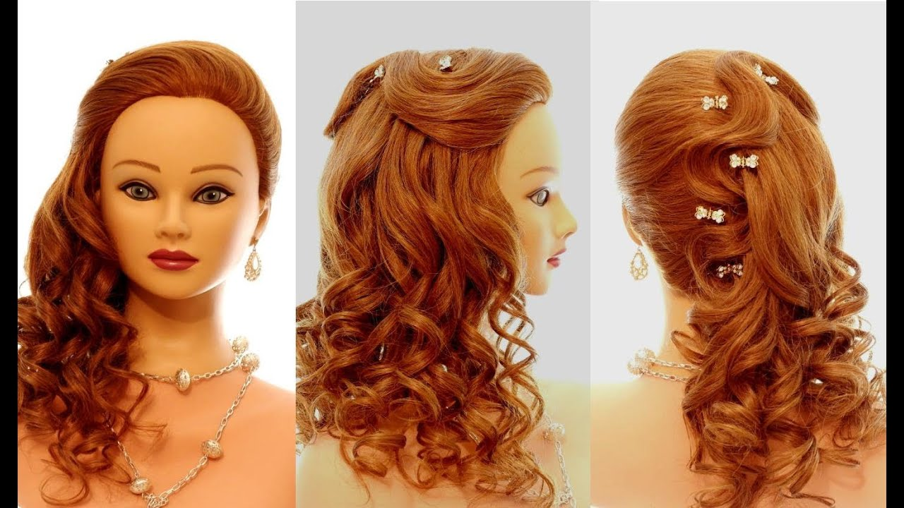 Причёска на выпускной быстро и легко с локонами