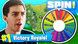 SPIN THE WHEEL OF FORTNITE LOCATIONS!! Fortnite: Battle Royale