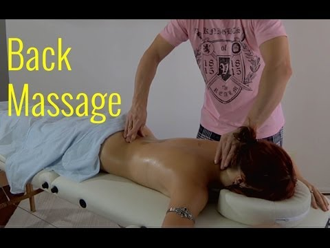ASMR Back Massage Therapy with Oil
