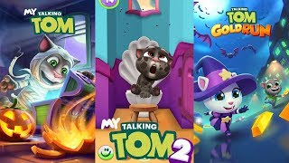 Talking Tom Gold Run - Halloween - My Talking Tom 2 vs My Talking Tom Gameplay