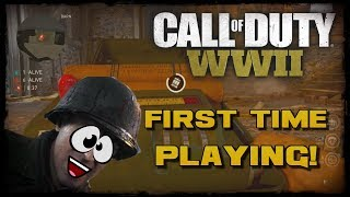 First Time playing CoD WW2 - Epic 1v6 Ninja Defuse, Trolling Noobs & Knifing Feeds!