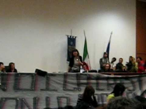 Sabina Guzzanti all'UNICAL – aula magna