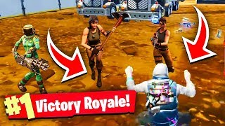 *TROLLING* MOBILE PLAYER!!! (Fortnite Battle Royale Solo Win Gameplay)