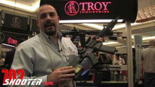 Troy Industries Drop-in Delta BattleRail & Battle Ax CQB Lightweight Stock 2012 Shot Show