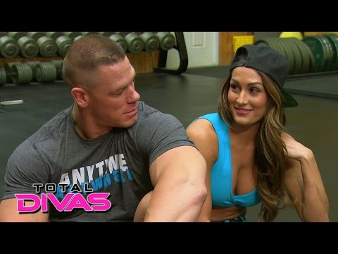 Nikki Bella and John Cena set up a friendly bet while at the gym: Total Divas, January 18, 2015 thumbnail
