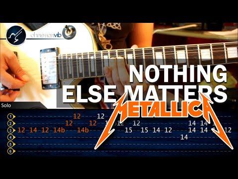 Como tocar Nothing Else Matters METALLICA en Guitarra Electrica SOLO HD Turotial