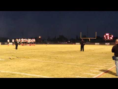 Kadey Gee singing the National Anthem at the Yucca Valley High School 2013 Homecoming Game