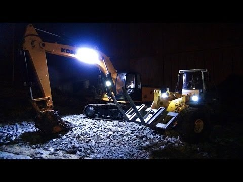 RC ADVENTURES - Dusk Mud Recovery - 4200XL Excavator & Loader