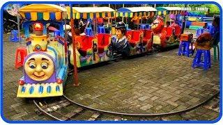 Naik Odong odong Kereta Api tut tut tut - Thomas Pokemon Pikachu & Angry Birds - Hana Family