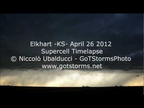 Elkhart -KS- April 26 2012 - Supercell Timelapse