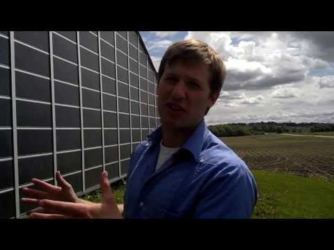 Hot Air Solar Collector -  Cliff Kaehler Discusses Wall Mounted Solar