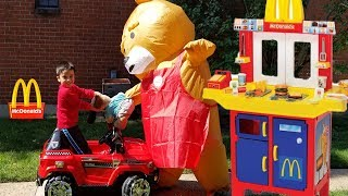 McDonald's Pretend Play Kitchen Toy with real life teddy bear    Jai Bista Show