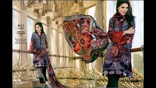 Munizay Winter Linen Embroidered Dresses 2016 17 Collection Online Shop