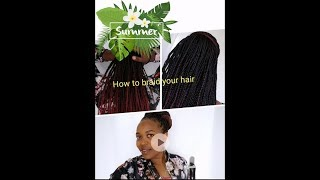 HOW TO BRAID YOUR HAIR WITHOUT USING A MIRROR