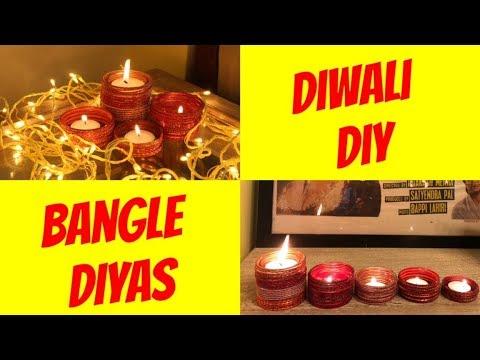DIWALI DIY    BANGLE DIYAS