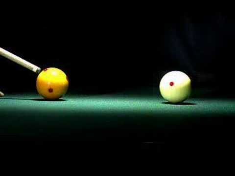 Pool and billiards in super slow motion (and in infrared) filmed with a high speed video camera