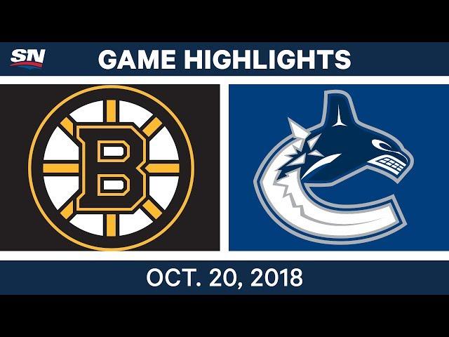 NHL Highlights  Bruins vs. Canucks - Oct. 20, 2018