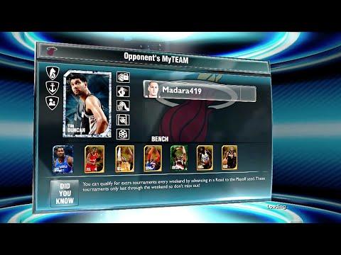 NBA 2K14 Next Gen My Team - 1st Seed: He Has Diamond Tim Duncan and Diamond Lebron James!