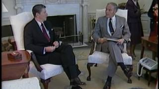 President Reagan meeting with Secretary of State Haig in oval office on April 14, 1982