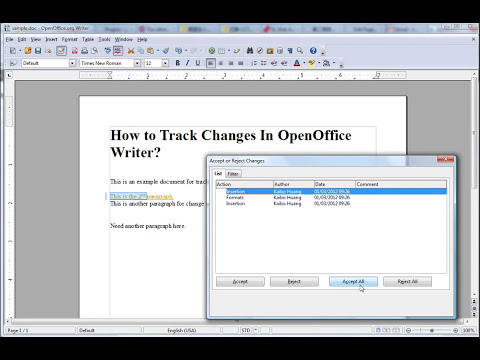 How to Track Changes in OpenOffice Writer?  Kaibo2.com