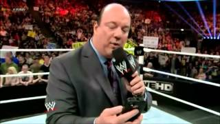 Paul Heyman gets a Pedigree from Triple H