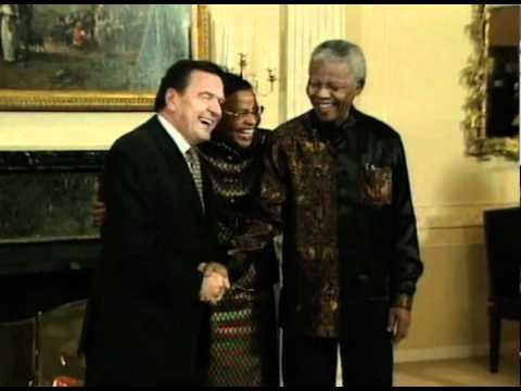 Nelson Mandela meets Gerhard Schroeder