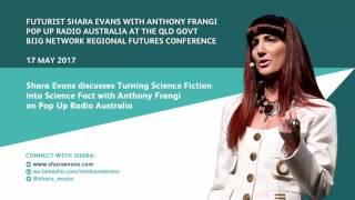 Shara Evans on Pop Up Radio Australia: Turning Science Fiction into Science Fact