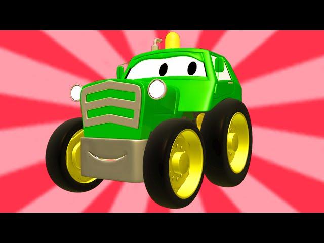Tom la GrГa y la Super Patrulla con tractores, autos y camiones en Auto City  Dibujos animados р